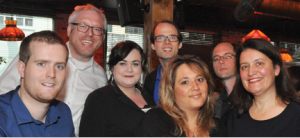Jordan Markowski, Rob Baker, Alexandra Hurley, Chris Leveille, Natasha Boomer, Mark Bond and Lisa Merchant.